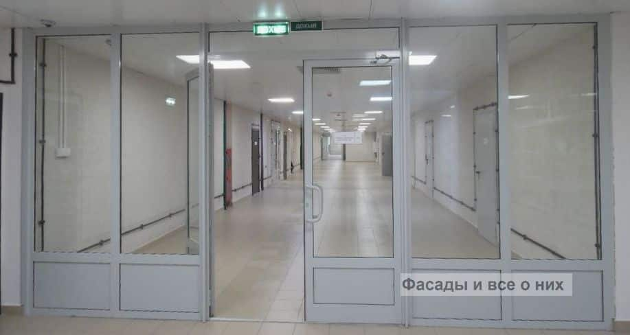 Алюминиевые противопожарные двери фото