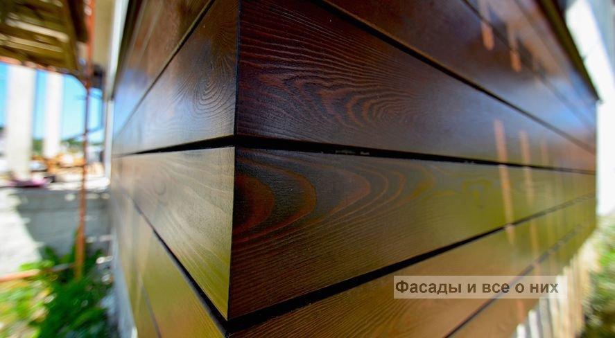 Фасад из планкета фото