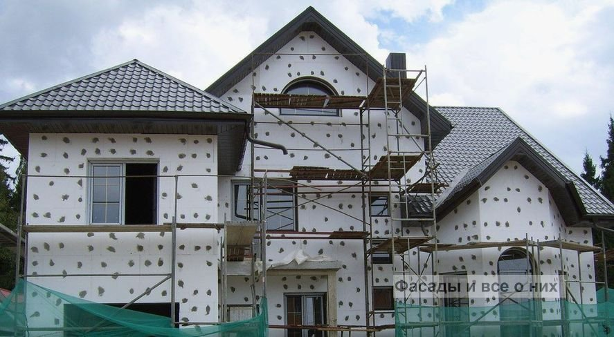 Монтаж фасадов фото