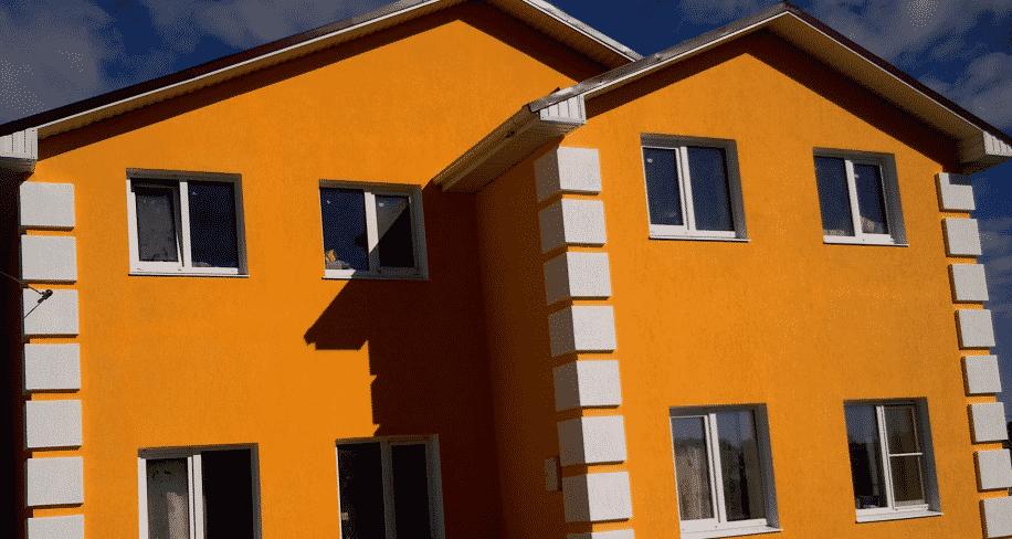 Окраска фасада под штукатурку