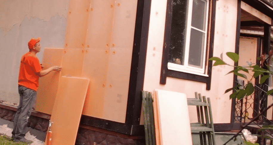 Отделка фасада пеноплексом
